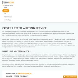 Cover Letter Writing Service of High Quality