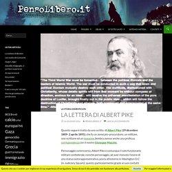 La lettera di Albert Pike - PensoLibero.it