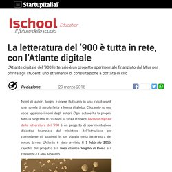 La letteratura del '900 è tutta in rete, con l'Atlante digitale