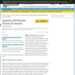 Appunti Sull'orlando Furioso Di Ariosto - Appunti di Letteratura Italiana gratis Studenti.it