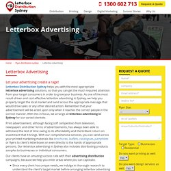 Letterbox Advertising and Marketing Services in Sydney