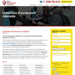 Letterbox Distribution Adelaide