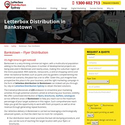 Looking for Letterbox and Flyer Distribution in Bankstown, Sydney?