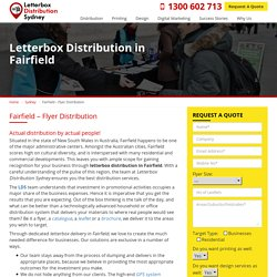 Flyer Delivery and Drops Services in Fairfield (Sydney)
