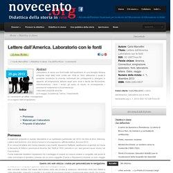 Lettere dall'America. Laboratorio con le fonti - Novecento.org