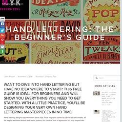 Hand Lettering: The Beginner's Guide - Skillshare Blog