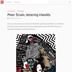 Peter Strain, lettering irlandés