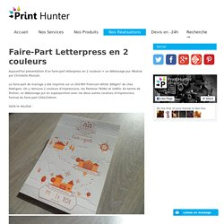 Faire-Part Letterpress en 2 couleurs - Print Hunter