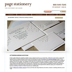 Letterpress Wedding Invitations | Letterpress Invitations - Wedding