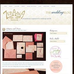 Letterpress and Peonies - Zenadia Design