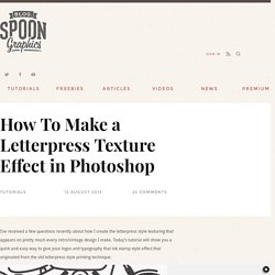 How To Make a Letterpress Texture Effect in Photoshop