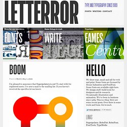 LettError Type: Fonts and Typography