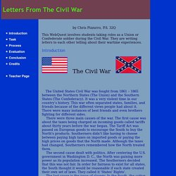 Letters From The Civil War: Introduction