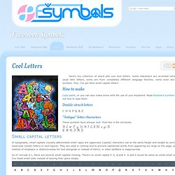Cool Letters for Facebook, MySpace, or MSN ℒℰṪṬℰℝℨ
