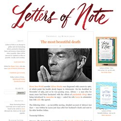 Letters of Note: The most beautiful death