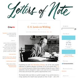 C. S. Lewis on Writing