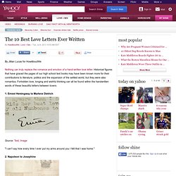 The 10 Best Love Letters Ever Written