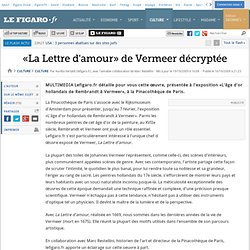 Culture : «La Lettre d'Amour» de Vermeer décryptée