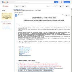 La lettre de la CPGE-ECT de Nice - Juin 2020/A-GoogleGroupes