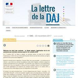 La lettre de la DAJ, n°240 du 23 novembre 2017