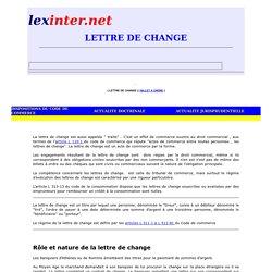 LETTRE DE CHANGE