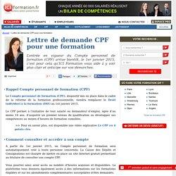 Lettre de demande CPF pour une formation