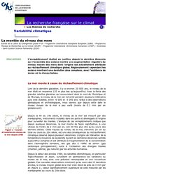 Lettre PIGB 19 - montée du niveau des mers - CNRS - Dossier Sagascience - Le Climat