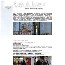 Lettre Ecole du Louvre