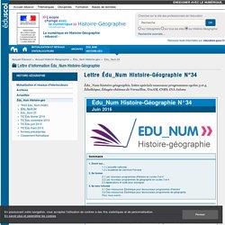 Lettre Édu_Num Histoire-Géographie N°34 — Histoire-Géographie