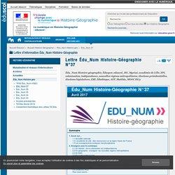 Lettre Édu_Num Histoire-Géographie N°37 — Histoire-Géographie