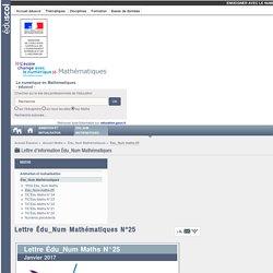 Lettre Édu_Num Mathématiques N°25 — Maths