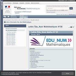 Lettre Édu_Num Mathématiques N°30 — Maths