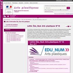 Lettre Édu_Num Arts plastiques N°18 — Arts Plastiques
