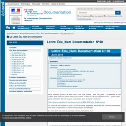 Lettre Édu_Num Documentation N°50 — Documentation (CDI)