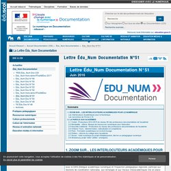 Lettre Édu_Num Documentation N°51 — Documentation (CDI)