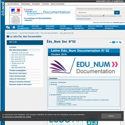 Lettre Édu_Num Documentation N°52 — Documentation (CDI)