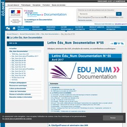 Lettre Édu_Num Documentation N°55 — Documentation (CDI)