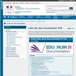 Lettre Édu_Num Documentation N°58 — Documentation (CDI)