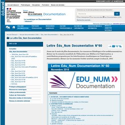 Lettre Édu_Num Documentation N°60 — Documentation (CDI)