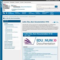 Lettre Édu_Num Documentation N°64 — Documentation (CDI)
