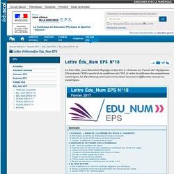 Lettre Édu_Num EPS N°18 — EPS