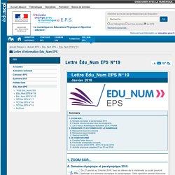 Lettre Édu_Num EPS N°19 — EPS