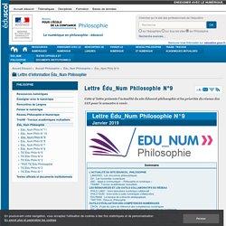 Lettre Édu_Num Philosophie N°9 — Philosophie