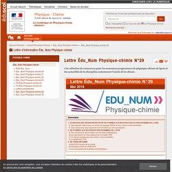 Lettre Édu_Num Physique-chimie N°29 — Physique-Chimie