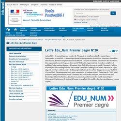 Lettre Édu_Num Premier degré N°20