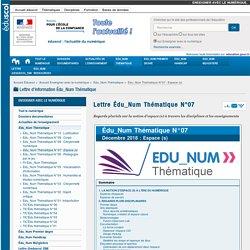 Lettre Édu_Num Thématique N°07
