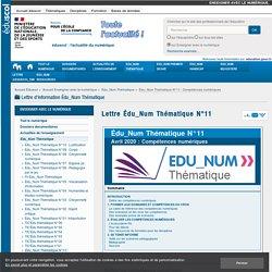 Lettre Edu-num - Les compétences numériques - Avril 2020