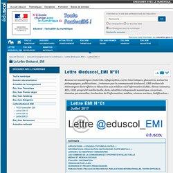Lettre @eduscol_EMI N°01 — Enseigner avec le numérique
