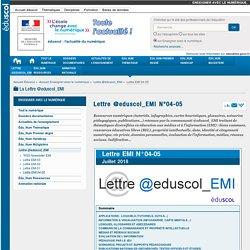 DIVERS : Lettre @eduscol_EMI N°04-05