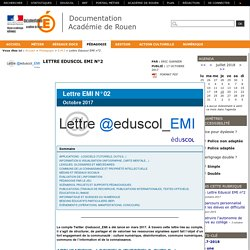 Lettre Eduscol EMI n°2